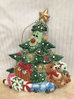 Fitz and Floyd *WEE CHRISTMAS TREE* ORNAMENT w/ Face Large 6