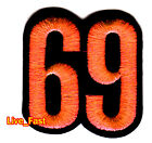 69 RETRO VINTAGE OUTLAW BIKER MOTORCYCE RIDER VEST CUT EMBROIDERED IRON ON PATCH