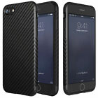 Carbon Fiber Black Soft TPU Silicone Thin Case Cover for Apple iPhone 5 6 7 8