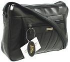 Ladies Leather Bag Lorenz Organiser Handbag Shoulder Overbody Multi Colours