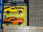 MAISTO MOTOR WORKS 2 CAR PACK 70 BOSS MUSTANG & 71 PLYMOUTH 1:64 DIECASt  2709b