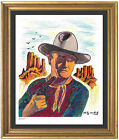 Andy Warhol Signed Hand Numbered Ltd Edition John Wayne Litho Print unframed