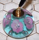 Vintage St Clair Art Glass Paperweight / Pen Holder W/Controlled Bubble 1971.