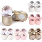 Newborn Baby Girl Soft Sole Leather Crib Shoes Anti slip Sneaker Prewalker 0 18M