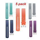 5 Pack New Replacement Wrist Band With Metal Watch Clasp For Fitbit Charge 2