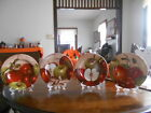 Apple Orchard Plate (s) x4 Scenes Stoneware Sakura David Carter Brown Red Green