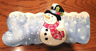 Fitz & Floyd SNOW Snack Therapy Snowman Tray Canape Plate NEW Original Box