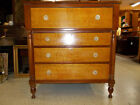 Antique American Neoclassical / Sheraton Tiger Maple Chest of Drawers ~ Virginia