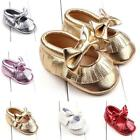 Newborn Baby Girl Toddler Soft Crib Shoes Bow Leather Prewalker Pram Sneakers US