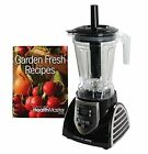 Food Blender Emulsifier Fruit Vegetable Drinks Smoothies Sorbet Ice Cream, Black