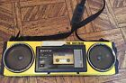 Sanyo M-GT7A THE OUTSIDER Radio Cassette Recorder Vintage Yellow Boombox   -(tps