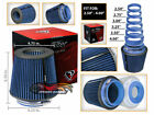 Cold Air Intake Dry Filter Universal Round BLUE For Geo Prizm Spectrum storm