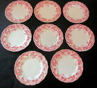Vintage STRAWBERRY FAIR Pink by Johnson Brothers 8 Bread & Butter Side Plate LOT
