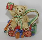 Fitz and Floyd Old Fashioned Christmas Creamer Cream Pitcher Bear Wagon Presents