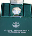 1996 PROOF National Community Service 90 Silver Dollar US Mint Coin Box