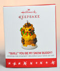Hallmark: Quill You Be My Snow Buddy? - Porcupine - 2016 Miniature Ornament