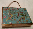 ZELL FIFTH AVENUE VINTAGE 1940'S COMPACT PURSE WITH CHAIN HANDLE-ALL ORIGINAL