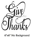 Give Thanks Fancy decal sticker for Glass block Shadow Box