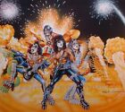 KISS 1978 Bally Pinball Backglass Artwork Print Signed Artist Kevin O'Connor BIG