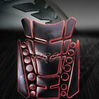 3D 24-Piece Customize Fuel/Gas Tank Pad Protector Decal/Sticker Black+Chrome Red