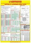 Tapping Drill Size wall chart poster, Full size for workshops etc. SHERWOOD