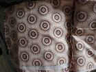 MEDALLION SCROLL By KATE McROSTIE DESIGN PINK & BROWN COTTON QUILT FABRIC BTY