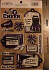LOVE 2 CHEER Purple Scrapbook Stickers Karen Foster Team Sports Cheerleading