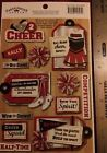 LOVE 2 CHEER Red Scrapbook Stickers Karen Foster Team Sports Cheerleading Squad