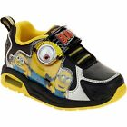 Minions Toddler Boys Black Yellow Lightweight Athletic Shoes 9 10 11