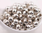 Wholesale Bronze Gold Silver Plated Metal Ball Spacer Beads 2.53 4 5 68mm