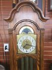 Sligh 6 Grandfather Clock Moon Phase Oak Wood Made In USA