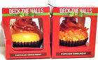 Lot 2 NIB Deck the Halls Cupcake Ornaments Yellow w/Orange Icing