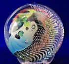 Fabulous JOSH SIMPSON Inhabited PLANET Art Glass PAPERWEIGHT