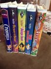 5 RARE One Time Owner Disney CLASSIC BLACK DIAMOND VHS Movies