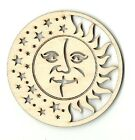 Sun Moon  Stars Unfinished Laser Cut Out Wood Shape Craft Supply SKY9