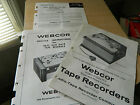 User AND Service Manuals for 1950s Webcor Reel to Reel Tape Recorder ORIGINAL