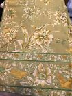 """54"""" April Cornell Tablecloth Floral Green with Birds NWOT"""