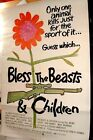 BLESS THE BEASTS AND THE CHILDREN ORIGINAL MOVIE POSTER 41 X 27 ONE SHEET