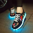 Unisex Fashion LED Light Sneakers Lace Up Breathable Sportswear Casual Shoes New