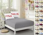 2 Pack Twin XL Fitted Sheet For Split King  Dorm Bed 3980 Extra Long Twin