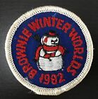 Girl Scouts Vintage Patch 1982 BROWNIE WINTER WORLDS w Snowman