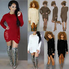 New Womens Autumn Long Sleeves Knitwear Pullover Sweater Bodycone Party Dress