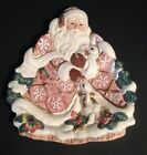 Fitz & Floyd Snowy Woods Santa Claus Bunny Deer Canape Plate Cookie Handcraft