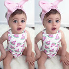 Adorable Baby Girls Watermelon Romper Bodysuit+ Headband Summer Clothes Sunsuit