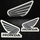 Motorcycle/Bike Fairing/Fender Logo Decal Sticker Honda Wings Carbon Fiber Look