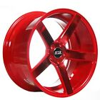New4 19 Staggered STR Wheels 607 Neon Red Rims