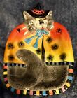 Fitz and Floyd Halloween Kitty Witches Canape Plate Candy Dish EXCELLENT PT2