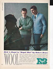 Original Print Ad 1962 Rich n Regal in Royal Mist by Robert Bruce WOOL 75 25