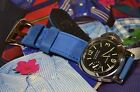 MA WATCH STRAP 26 24 22 MM YOUNG STEER LEATHER F. PANERAI,STEINHART STEER-BLUE