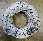 3 8 x 85 ft Dacron Polyester Halyard Spliced in Stainless Snap Shackle W Blk
